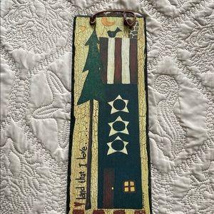 "☘️Slate Plaque ""Land That I Love"" Flag Patriotic"